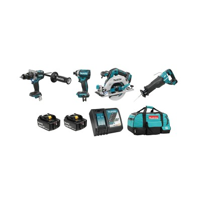 DLX4091T | Ensemble de 4 outils 18V (5,0 Ah) LXT Makita Brushless